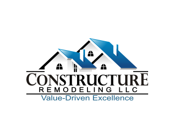 constructure remodeling has selected their winning logo design