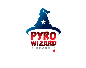 Pyro wizard fireworks logo design contest logos by guz for Logo creation wizard