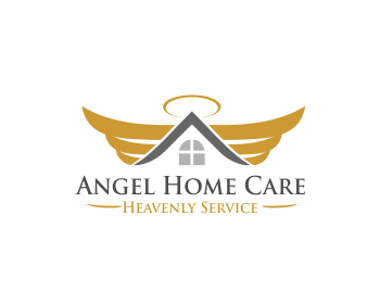Angel home care logo design contest logos by ponetzgraphics Angel logo design