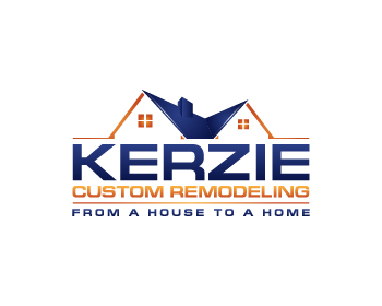 kerzie custom remodeling has selected their winning logo design